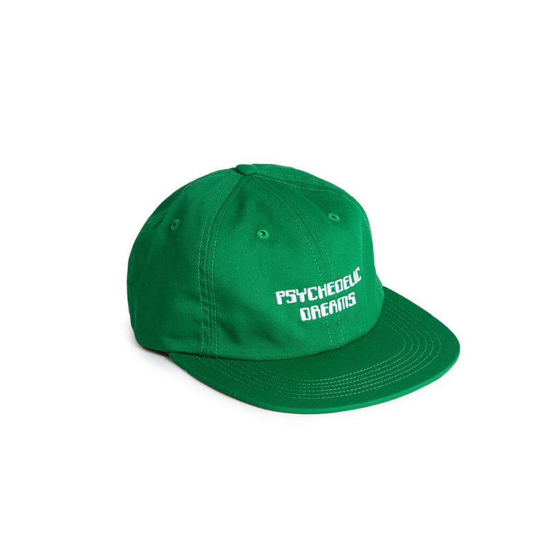Psychedelic Dreams 6 Panel Strapback - Green