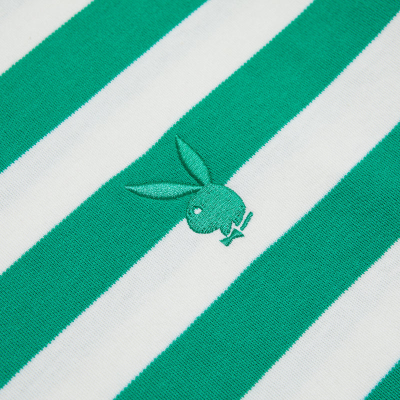 GW X Playboy Bunny Stripe Tee - Teal/White