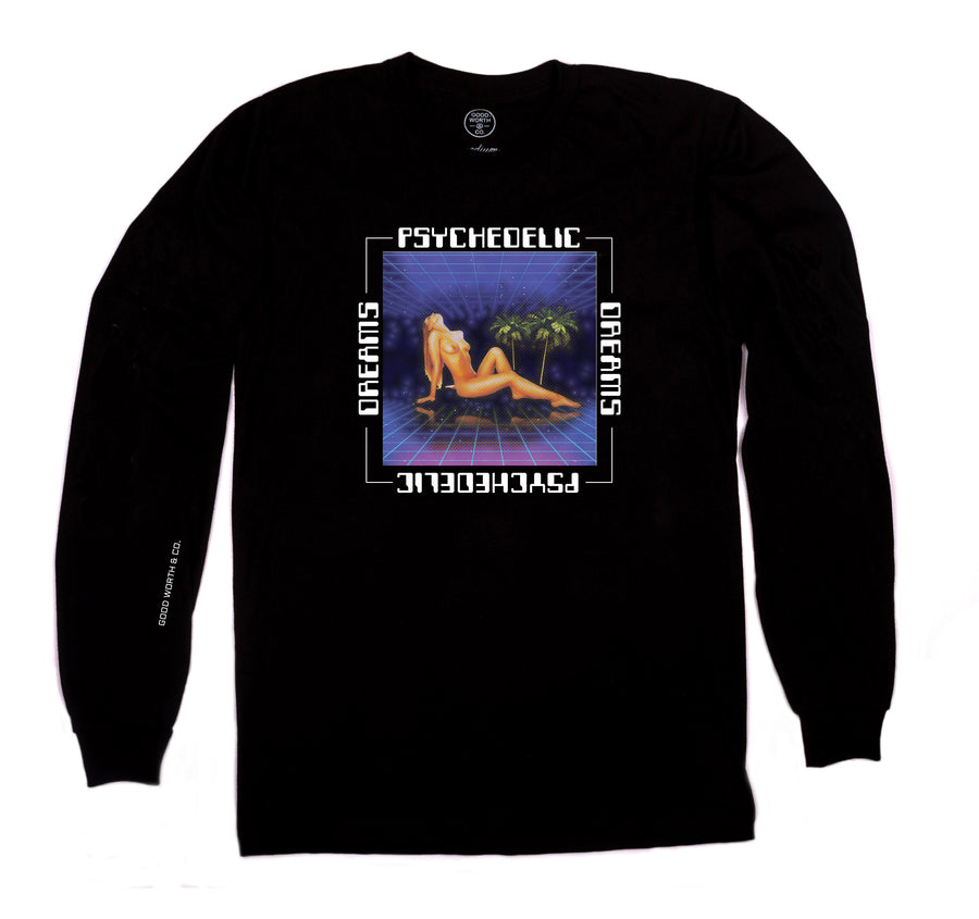 Psychedelic Dreams Long Sleeve - Black