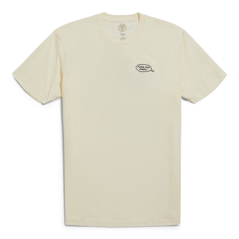 Send Papers Tee - Natural