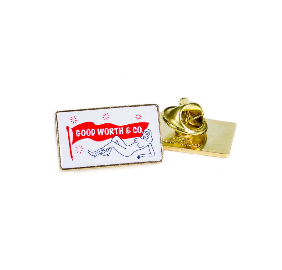 Jane Fondle Logo Pin
