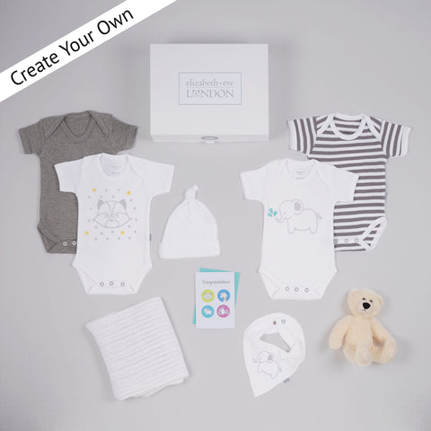 luxury gift box for new borns for baby showers and christenings