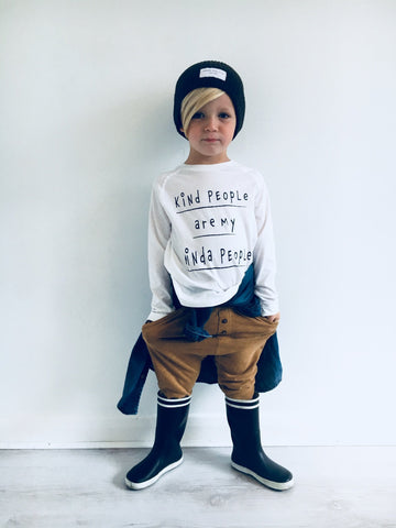 morn kids shop monochrome tee and hat