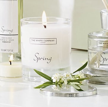 White Company Candle Spring