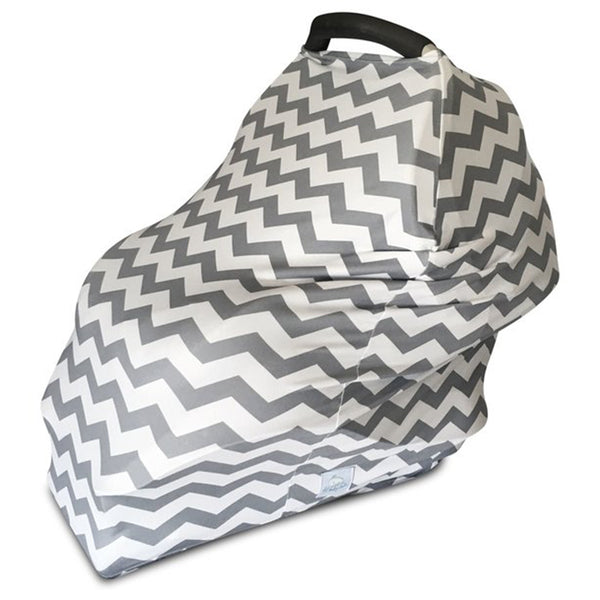 grey and white baby seat cover
