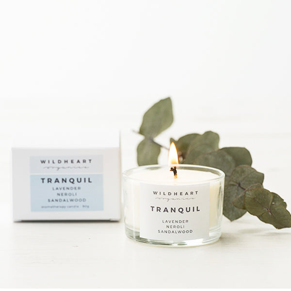 wildhearts organic tranquil candle