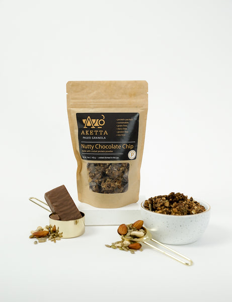 Nutty Chocolate Chip Cricket Protein Paleo Granola