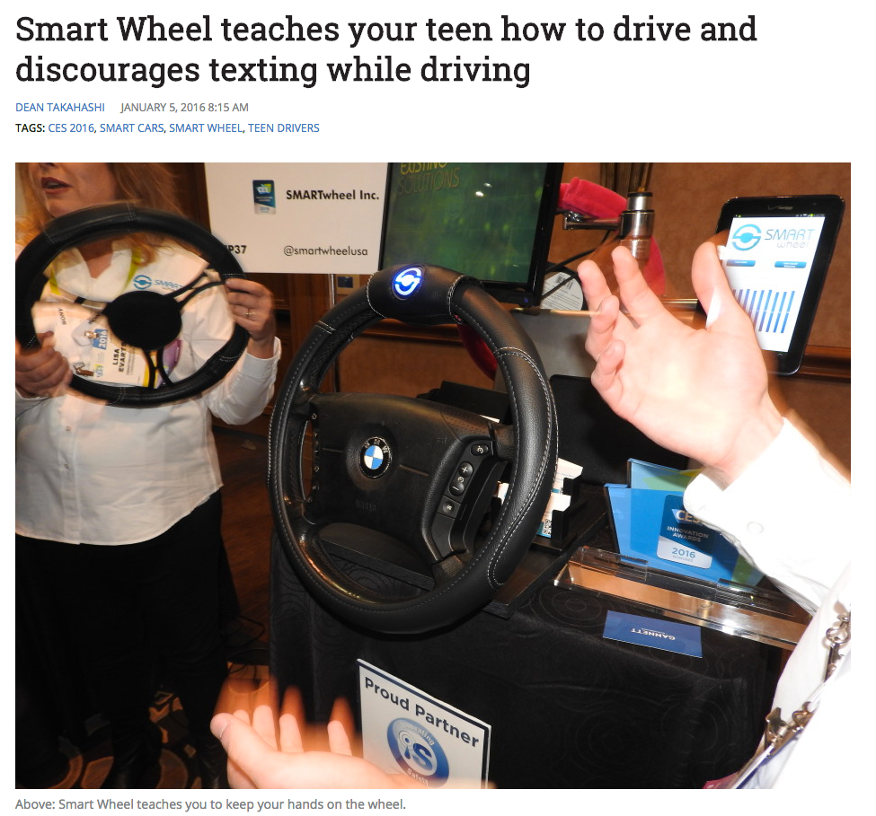 SMARTwheel on VentureBeat