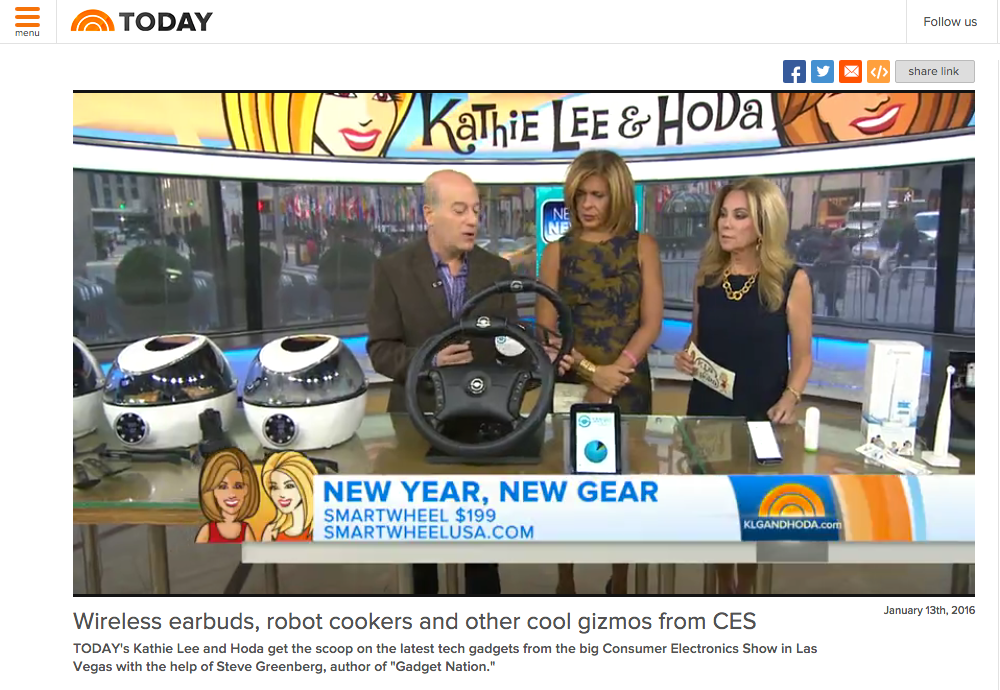 Smartwheel on the Today Show on NBC