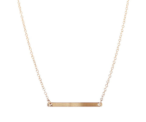 Linnea Bar Necklace - Emmy Trinh Jewelry - 6 Unique Gifts - Gift Guide