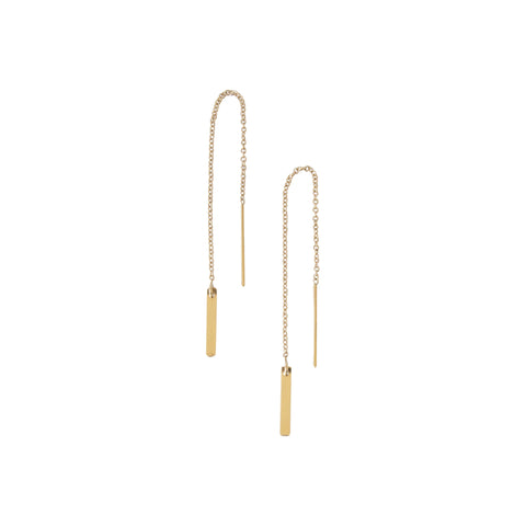EMMY TRINH JEWELRY - LINNEA GOLD FILLED BAR EARRINGS