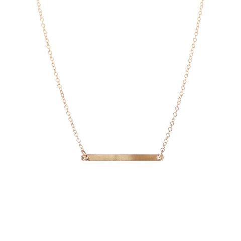 EMMY TRINH JEWELRY - LINNEA GOLD FILLED BAR NECKLACE