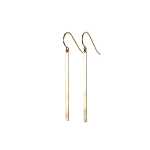 EMMY TRINH JEWELRY LINNEA long gold filled bar drop earrings