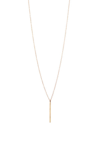 EMMY TRINH JEWELRY -LINNEA GOLD FILLED BAR LONG NECKLACE