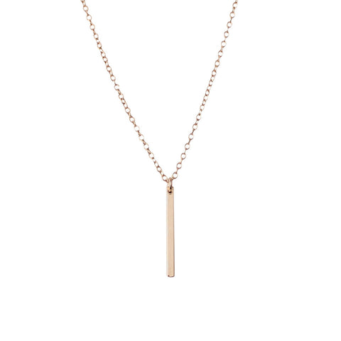 EMMY TRINH JEWELRY - LINNEA GOLD FILLED DROP BAR NECKLACE
