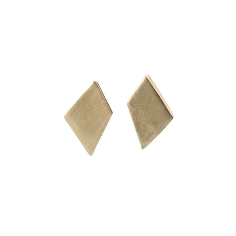 LOVISA DIAMOND EARRINGS - bronze - Emmy Trinh Jewelry