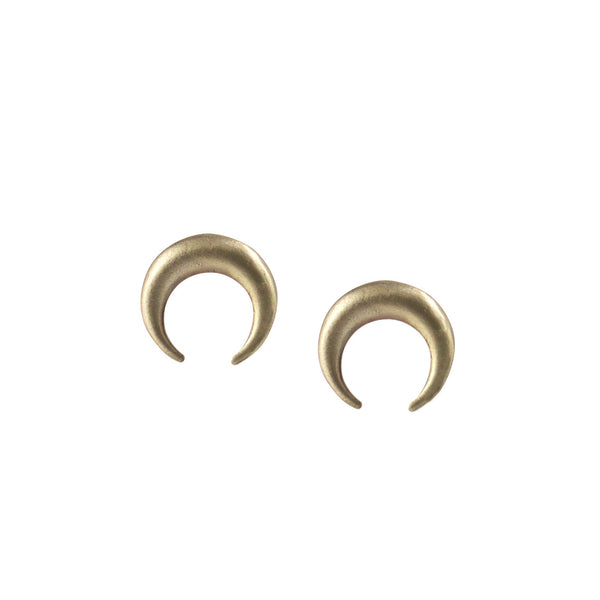 EMMY TRINH JEWELRY - MOON IN TAURUS EARRINGS - BRONZE