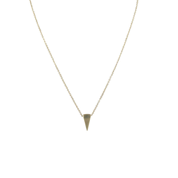 EMMY TRINH JEWELRY - LOVISA SMALL TRIANGLE NECKLACE - BRONZE