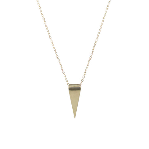 EMMY TRINH JEWELRY - LOVISA LARGE TRIANGLE NECKLACE - BRONZE