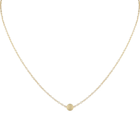 SOL SOLITAIRE ILLUME GOLD FILLED NECKLACE