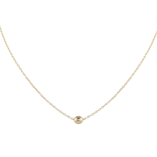 SOL SOLITAIRE GOLD FILLED NECKLACE - SMOOTH