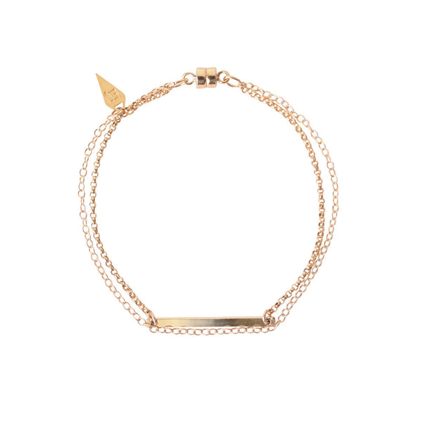 EMMY TRINH JEWELRY - STAX LINNEA BAR BRACELET GOLD FILLED