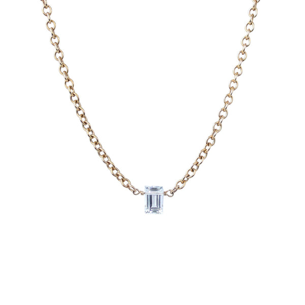EMMY TRINH JEWELRY -TAYLOR NECKLACE CRYSTAL QUARTZ GOLD CHAIN