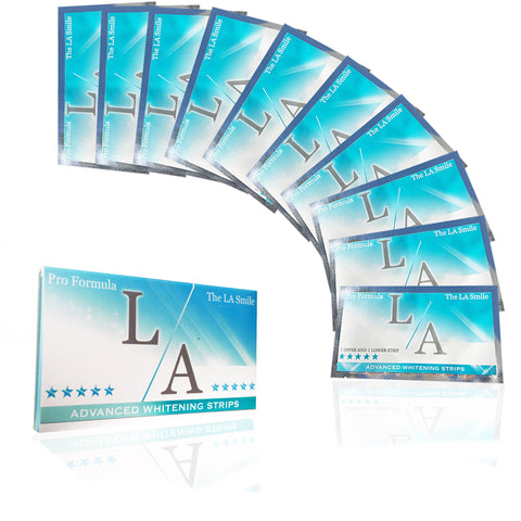 LA WHITENING STRIPS X10 PACK