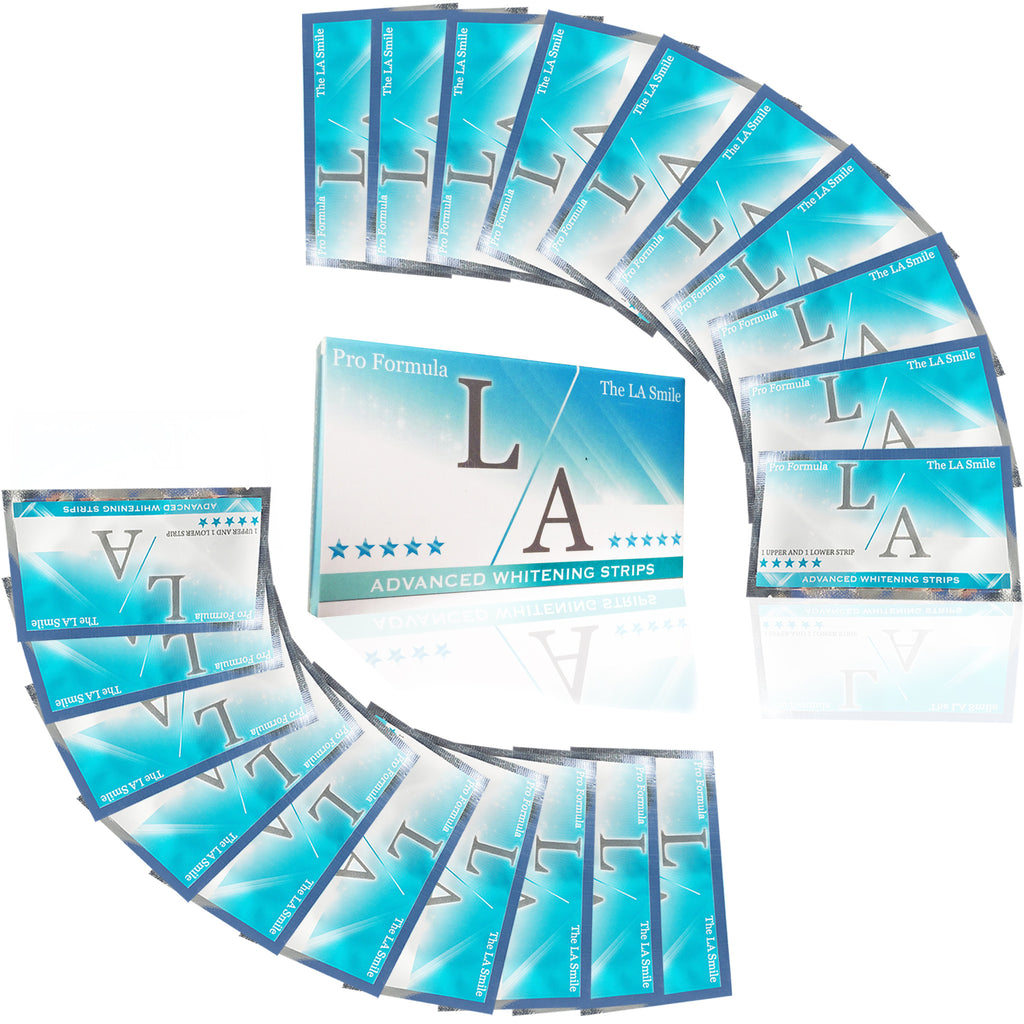LA WHITENING STRIPS X20 PACK