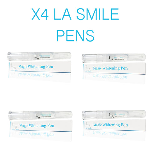 4 LA SMILE TEETH WHTENING PENS