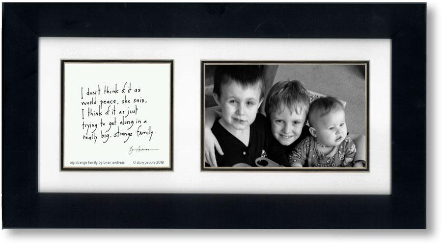 Big Strange Family (feminine) 4x6 Double Picture Frame
