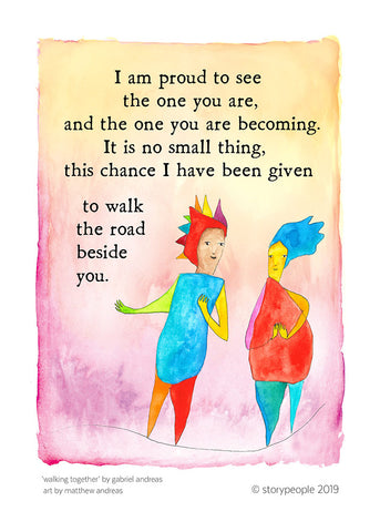 Walking Together Greeting Card Pack