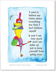 Believing My Father Color Wash Print from StoryPeople