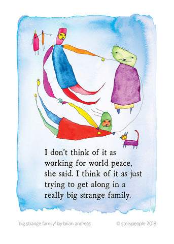 Big Strange Family Greeting Card Pack