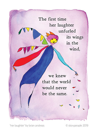 Her Laughter Greeting Card Pack