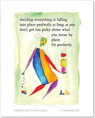 Falling Into Place Color Wash Print from StoryPeople