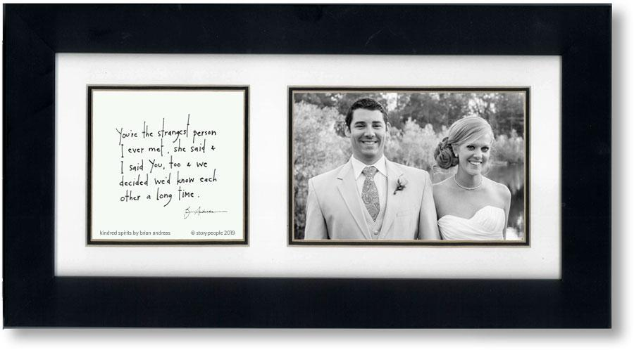Kindred Spirits 4x6 Double Picture Frame