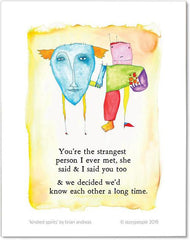 Kindred Spirits Color Wash Print from StoryPeople
