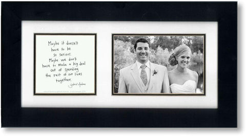 Natural Bond 4x6 Double Picture Frame