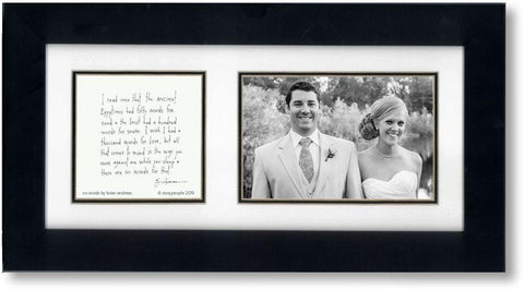 No Words 4x6 Double Picture Frame