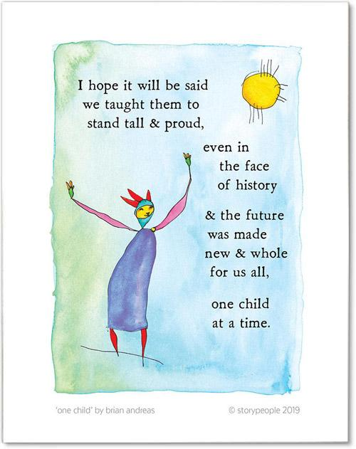 One Child Color Wash Print from StoryPeople