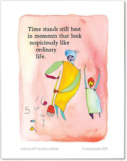 Ordinary Life Color Wash Print from StoryPeople