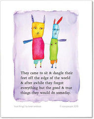 True Things Color Wash Print from StoryPeople