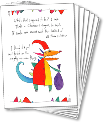 Christmas Dragon Holiday Card Set