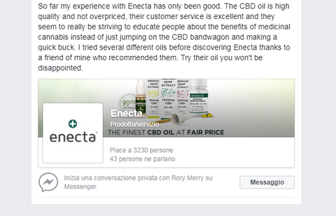 Enecta CBD (Cannabidiol), here are the opinions of our customers!