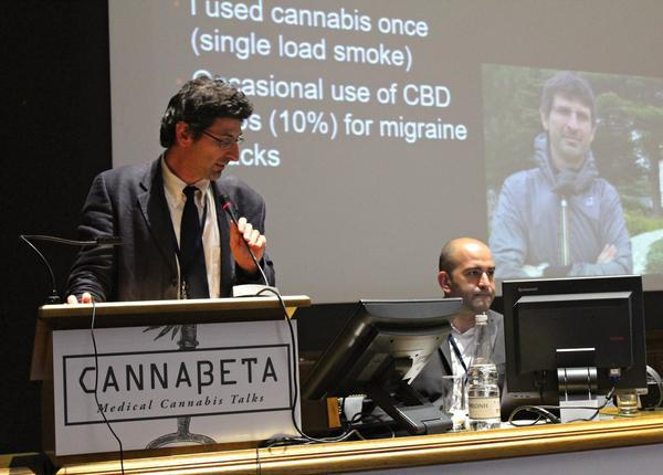 Discussion of the therapeutic effects of cannabis at the Cannabeta event in Greece