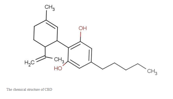 Anti-inflammatory properties: the chemical structure of CBD