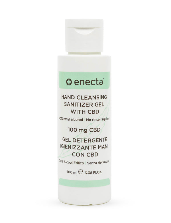 Hand cleansing sanitizer gel with CBD-Enecta.en