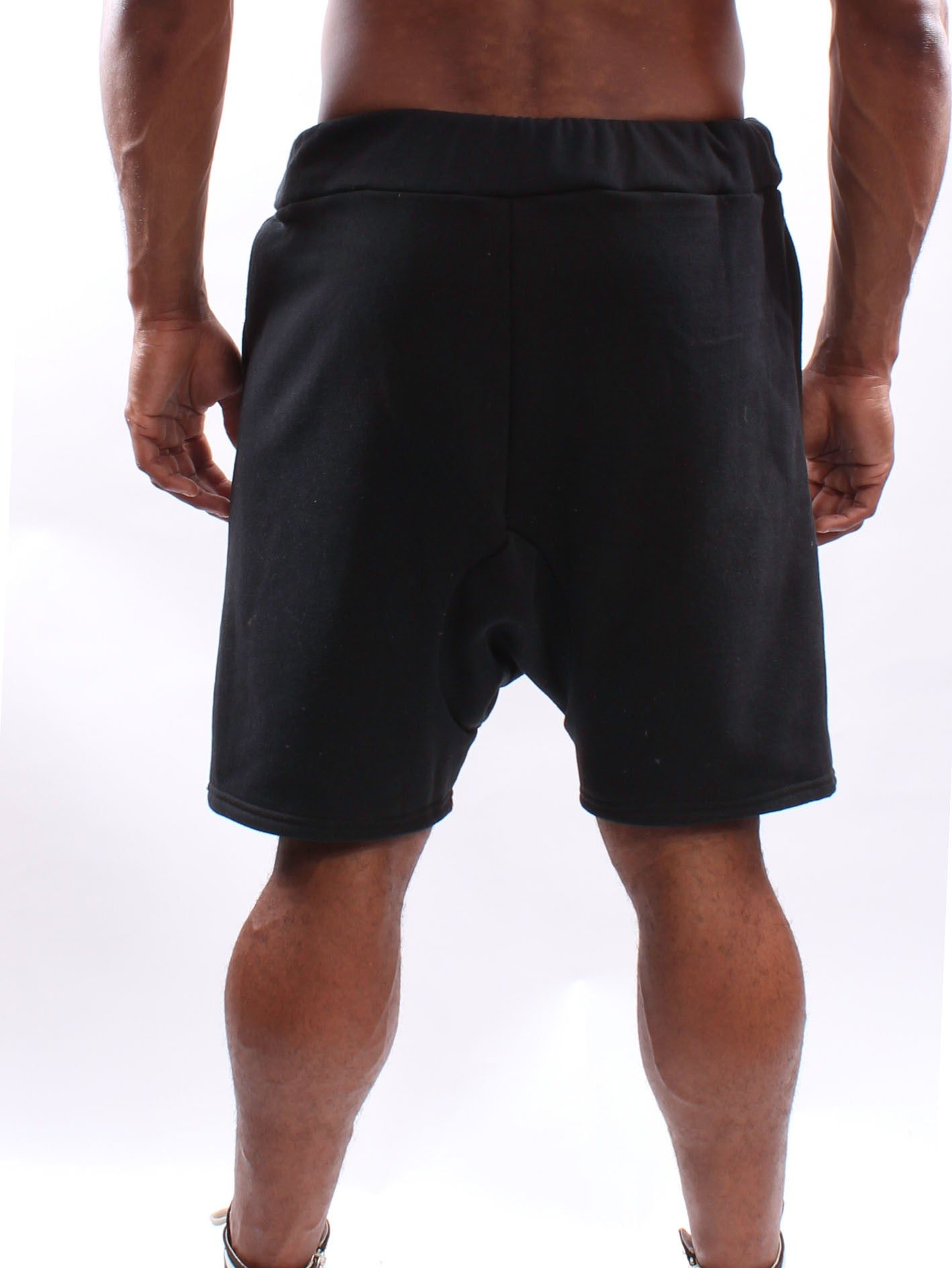 Black Drop Croch Shorts