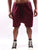 Maroon  Drop Croch Shorts